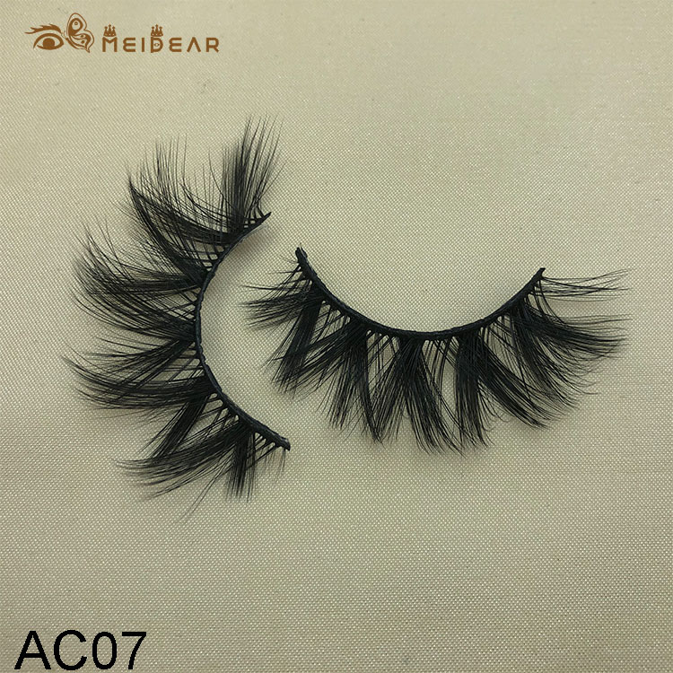 Synthetic faux mink eyelashes AC07 $1.0 per pair