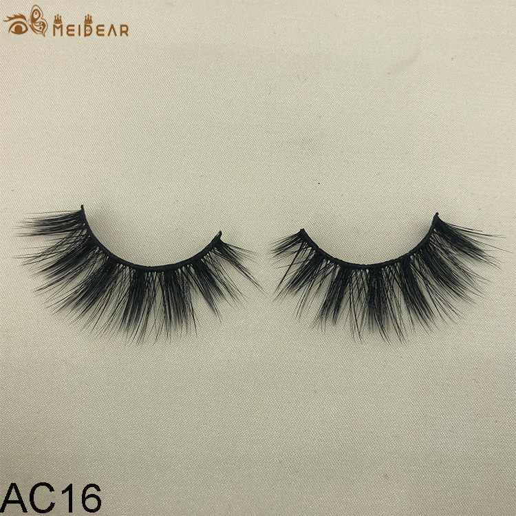 Synthetic faux mink eyelashes AC16 .0 per pair