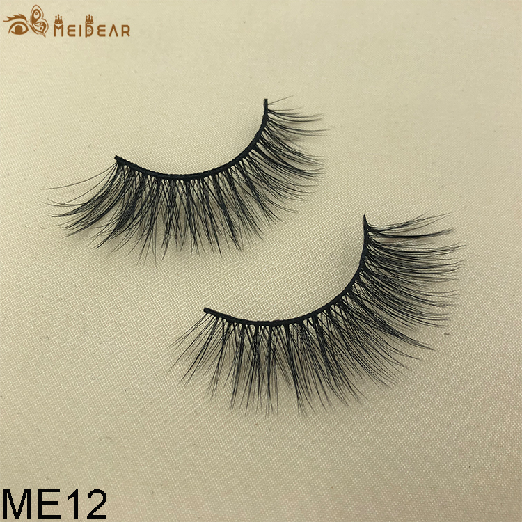 Synthetic faux mink eyelashes ME12