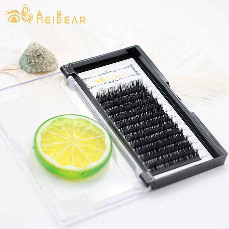 Manufacturer wholesale custom package with highest quality individual eyelash extensions