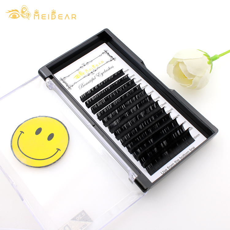 Lash extensions vendor wholesale premium eyelash individuals with private label-BW