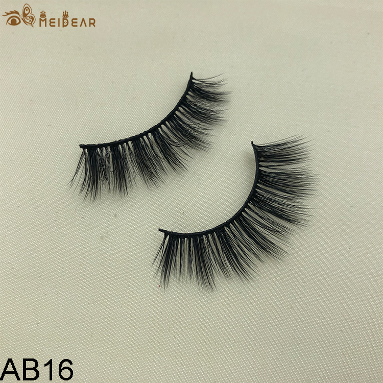 Synthetic faux mink eyelashes AB16