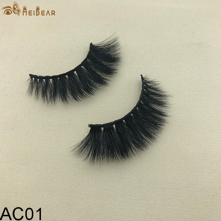 Synthetic faux mink eyelashes AC01  .0 per pair
