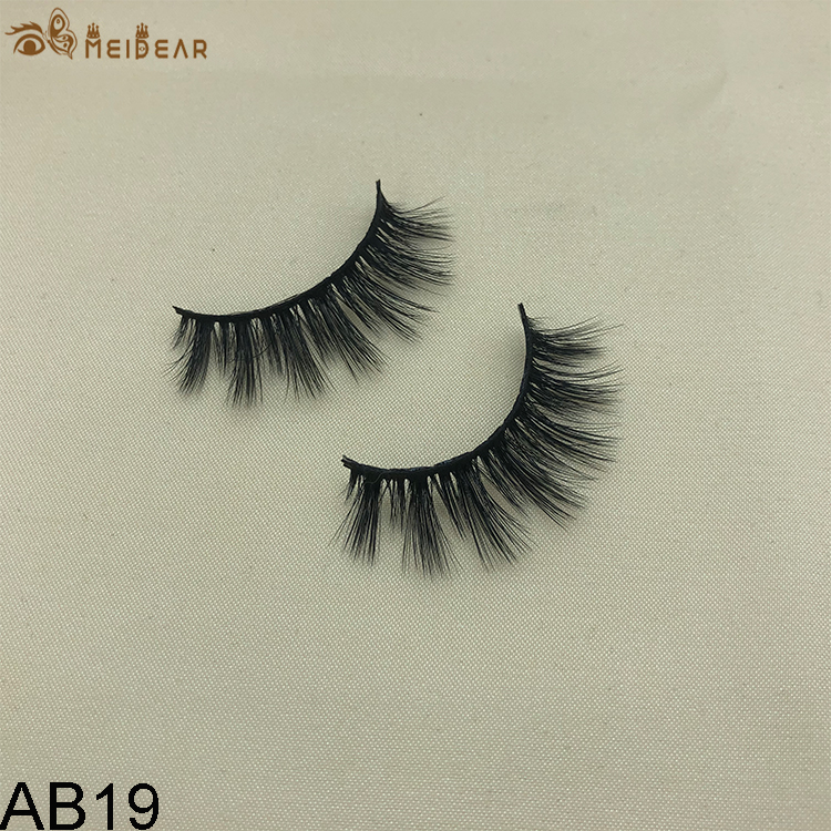Synthetic faux mink eyelashes AB19