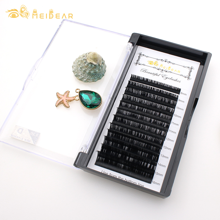 Eyelash wholesaler provide 100% handmade long lasting eyelash extensions with private label-BW