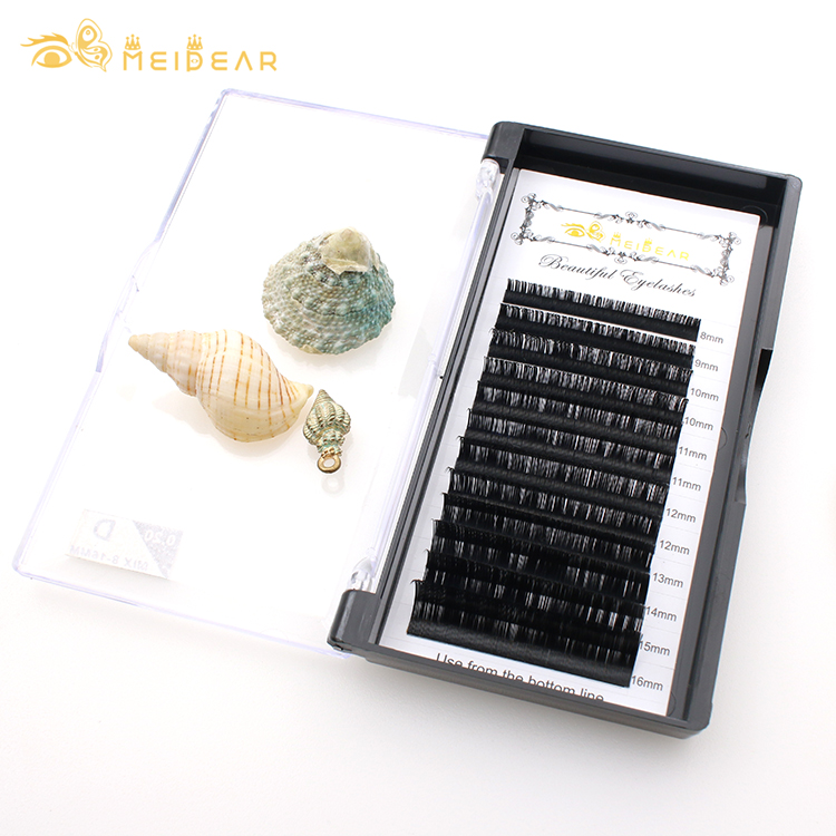 Professional eyelash extensions B,CC,D,J curl wholesale with private label-BW