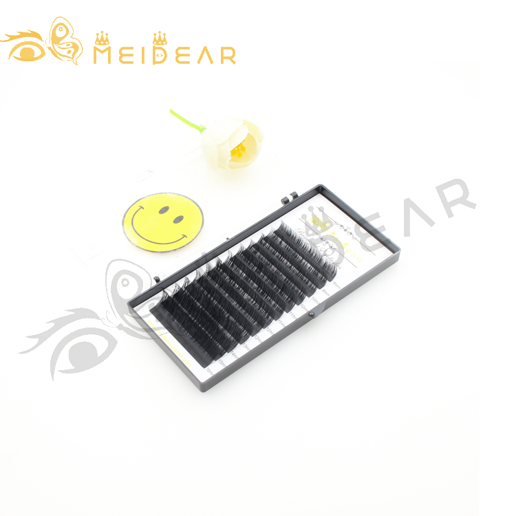 Wholesaler supply soft 0.05mm thickness silk lash extension with custom package to US-SX