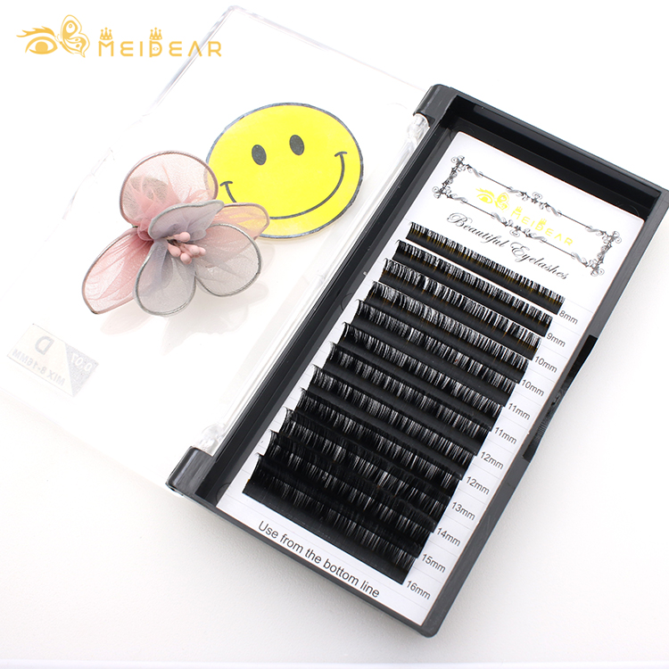 Extension lashes factory wholesale premium material eyelash extensions with private label at low price-BW