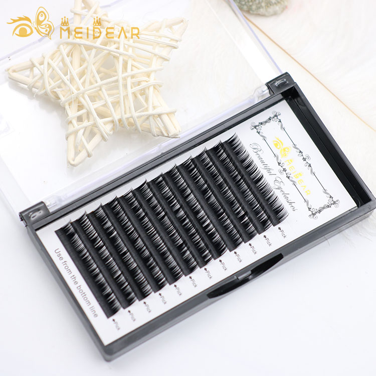 Factory wholesale handmade fullness individual eyelash extensions with mixed length