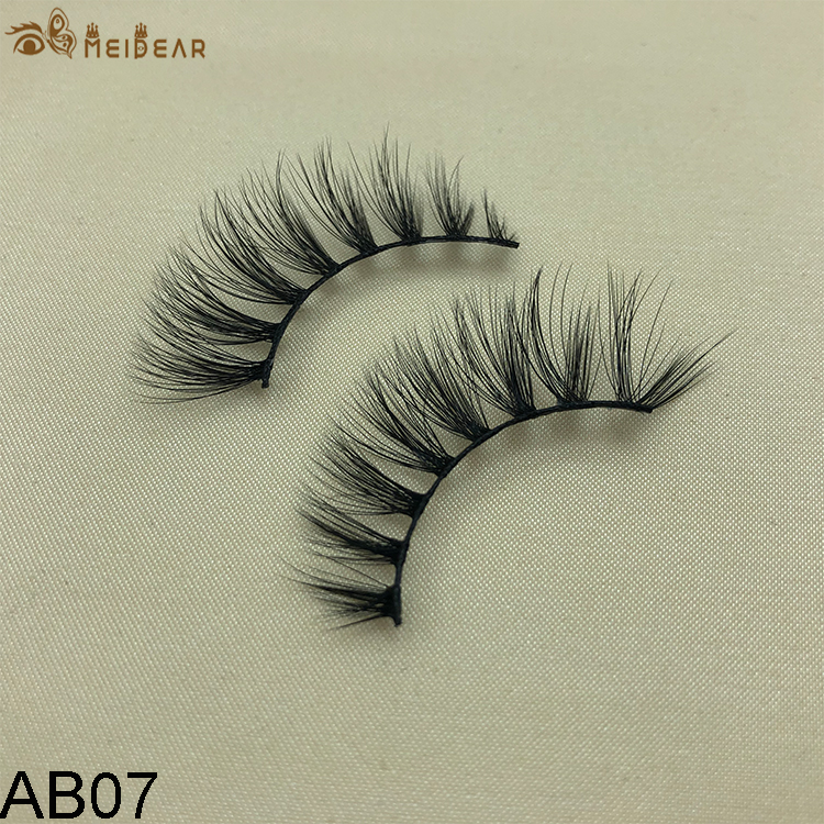 Synthetic faux mink eyelashes AB07