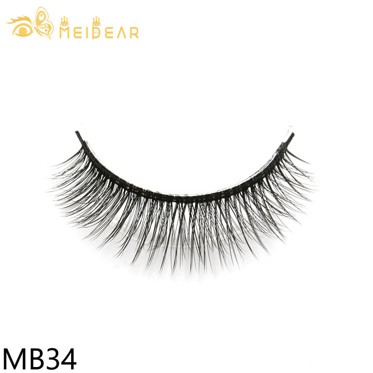 3D eyelashes producer provide natural and high quality 3d silk lashes with own brand packaging logo design