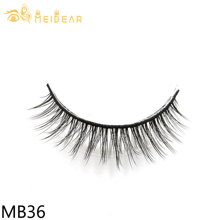 3D strip eye lashes distributor supply glamorous and highest quality 3d silk lashes with private label boxes