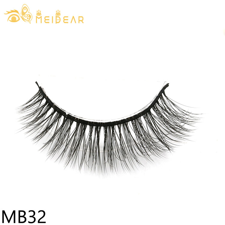 Lashes producer supply natural and fluffy 3D silk eyelashes with own brand packages