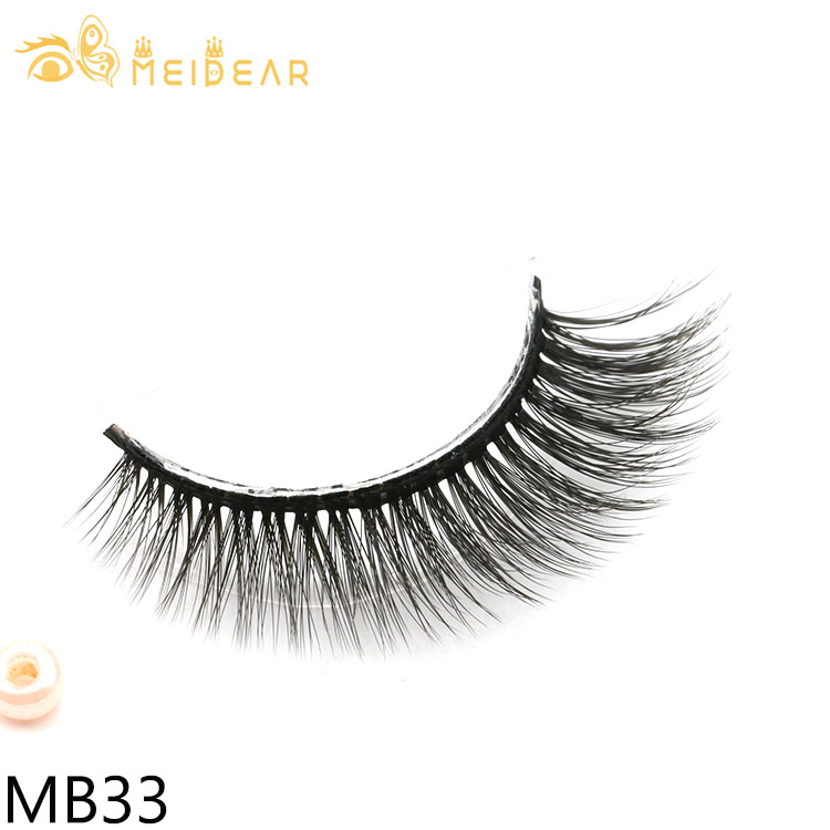 Lashes wholesaler provide glamorous best synthetic 3D silk eyelashes with own brand packaging to Norway