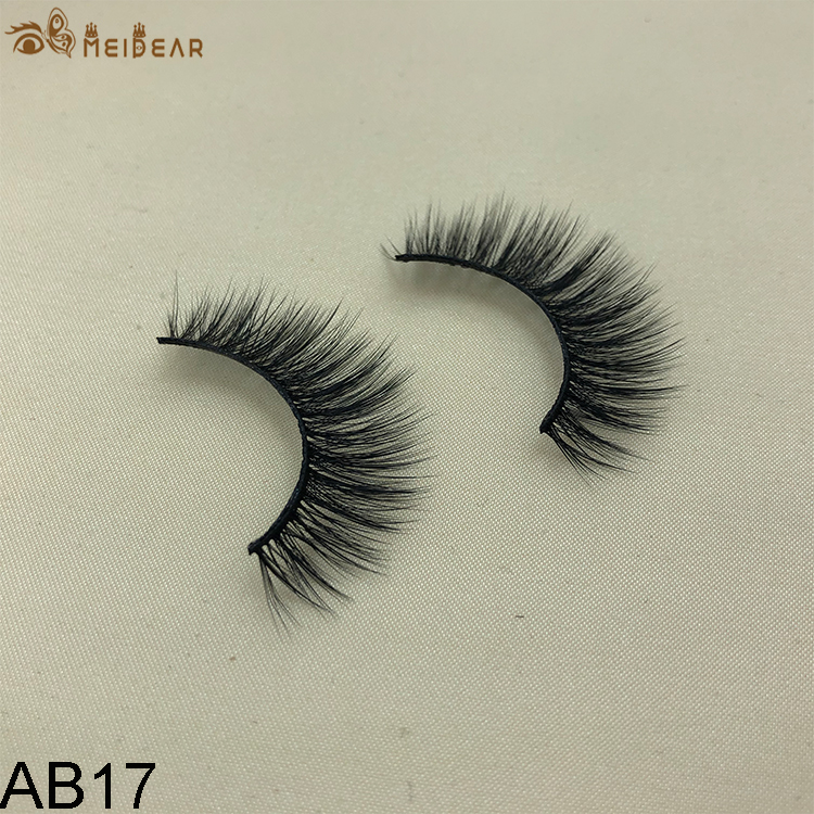 Synthetic faux mink eyelashes AB17