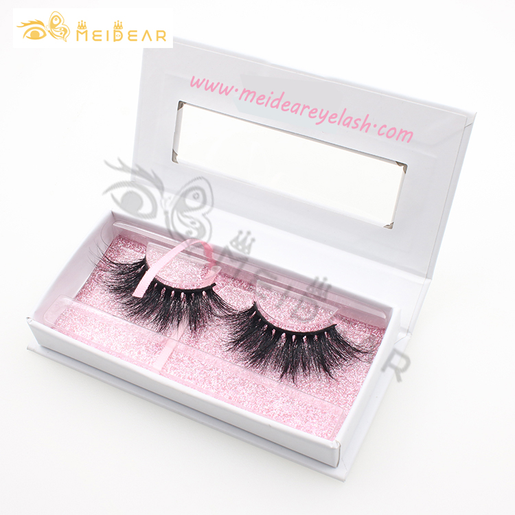 Popular 3D mink lashes 25mm false eyelashes wholesale with custom packaging lash boxes-BW