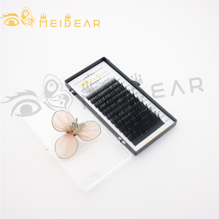 Eyelash vendor handmade natural looking silk eyelash extension with private label to AU-SX