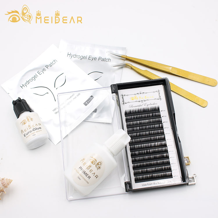 Factory supply longest-lasting mink eyelash extension with hot selling B C D CC L L+ curl to usa