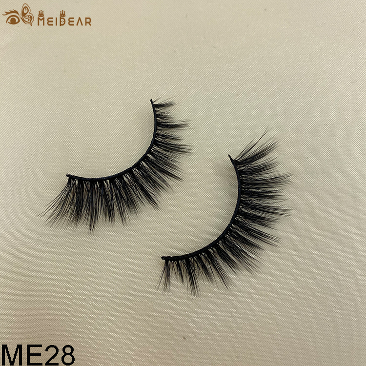 Synthetic faux mink eyelashes ME28