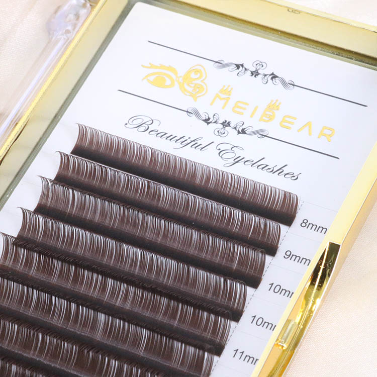 Black brown eyelash extension