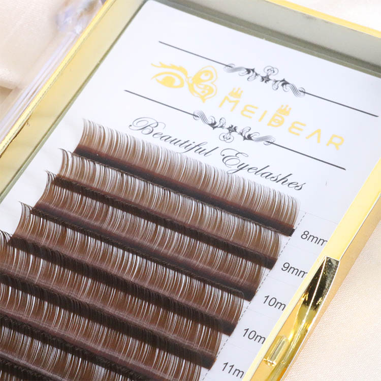 Brown eyelash extension