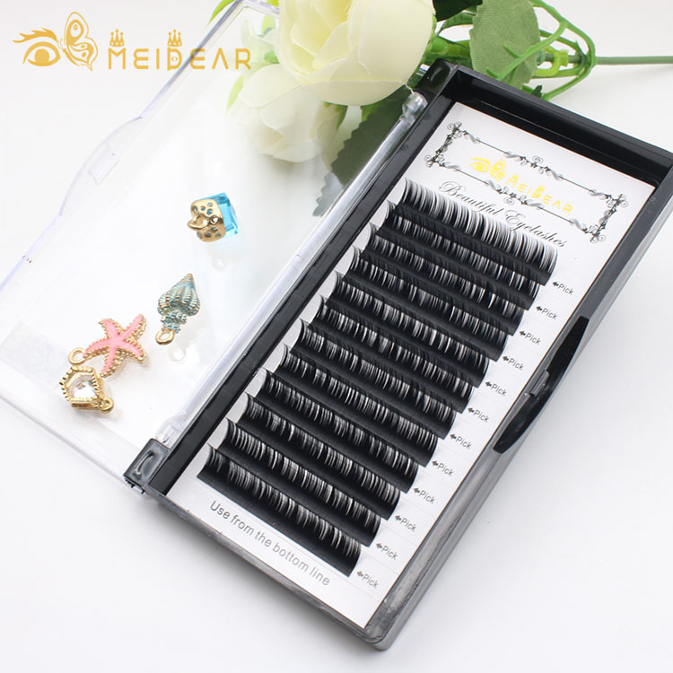 Custom made eyelash box for high quality individual eyelash extension with private label