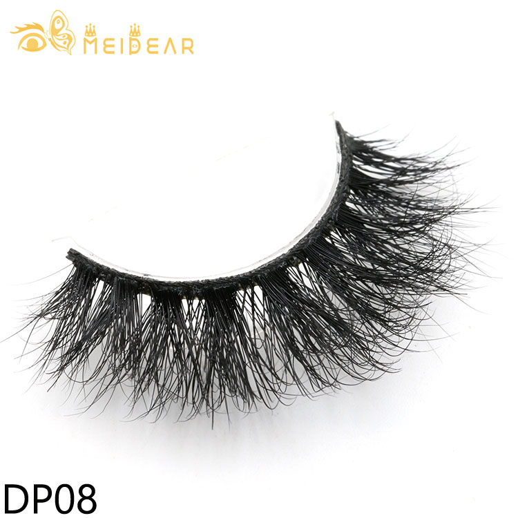 Distributor provide glamorous 3d mink strip eyelashes with own brand packaging
