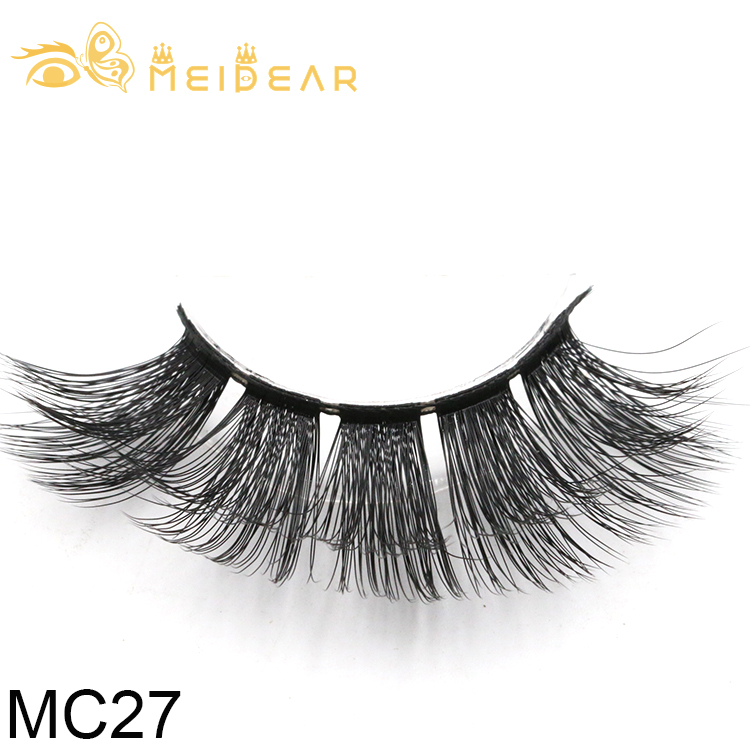 Distributor wholesale glamorous handmade 3D silk eyelashes with private label