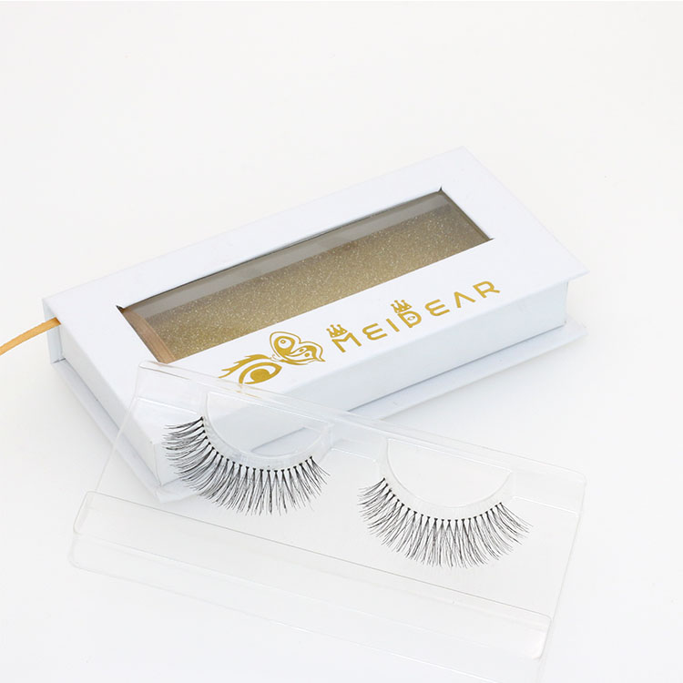 Dramatic premium human hair false lashes with custom eyelash packaging box