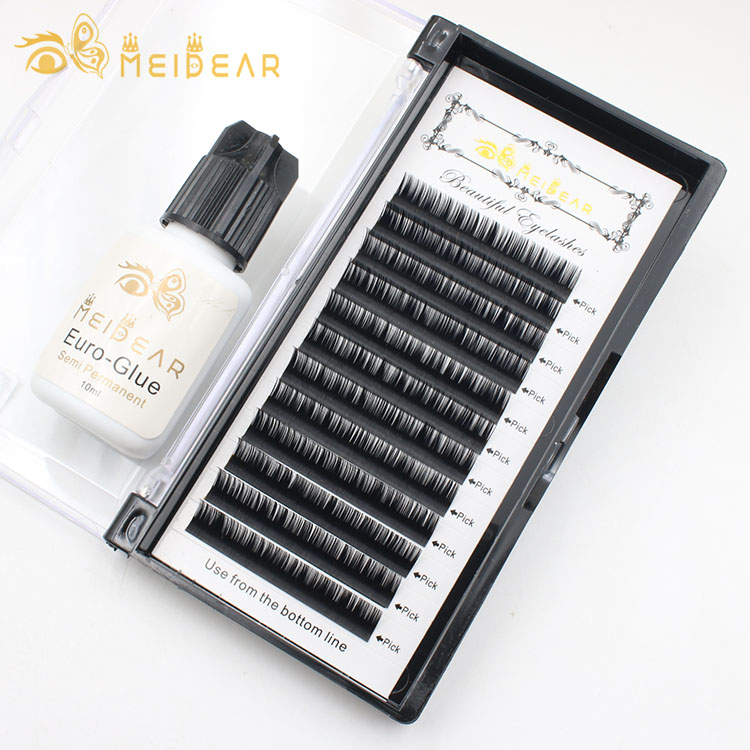 Eyelash extension supplies manufacturers provide high quality mink lash extension with private label