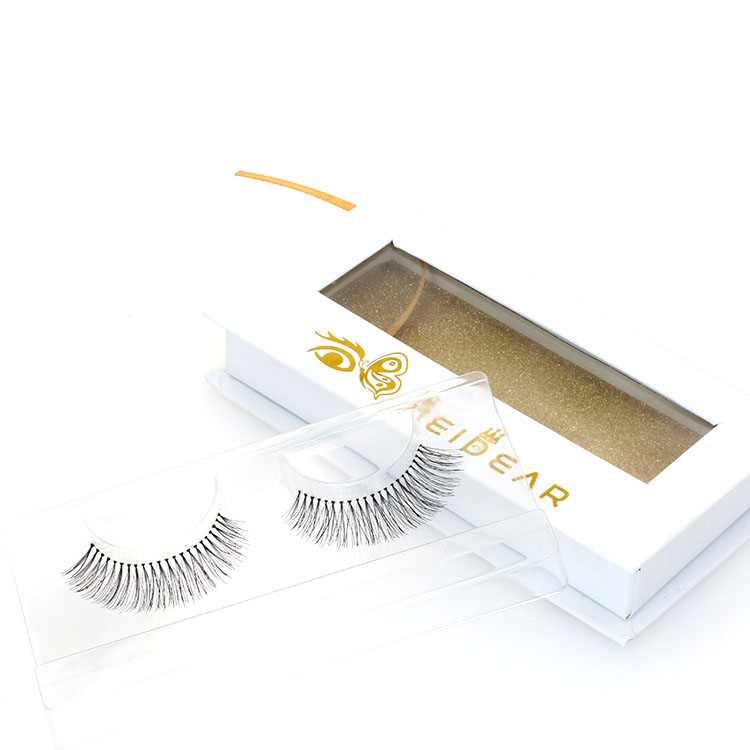 Eyelash factory provide glamorous and natural human hair strip lashes with private label