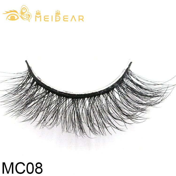 Eyelash packaging private label  for premium  3d silk lashes with wholesale price