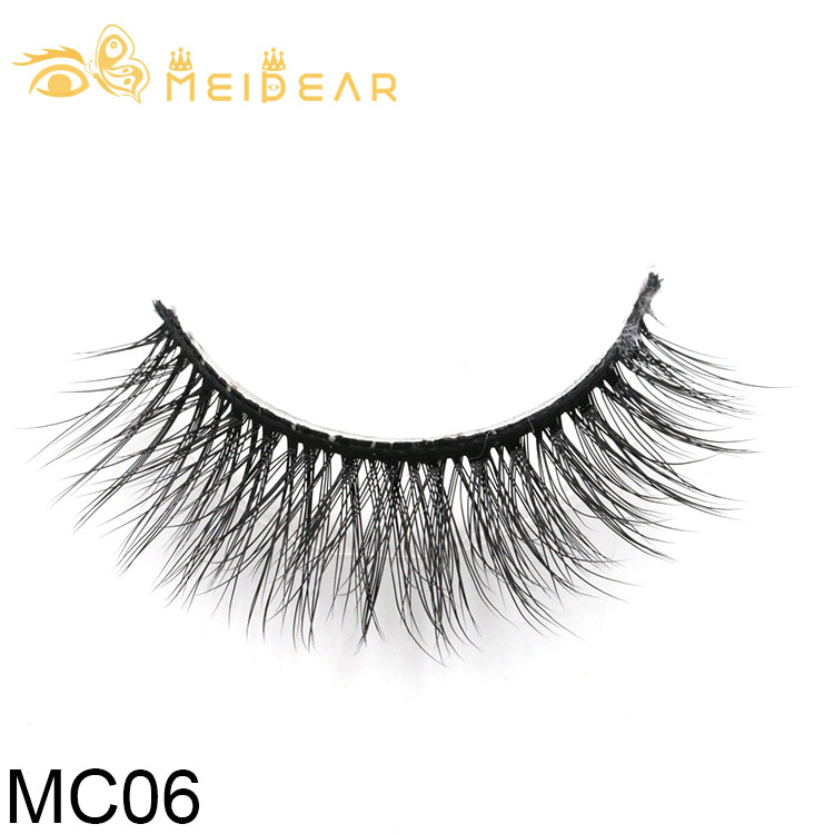 Eyelash producer provide natural and high quality 3d silk lashes with private label