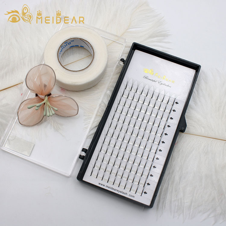 Eyelash suppliers China custom eyelash packaging for premade Russian volume lash extensions