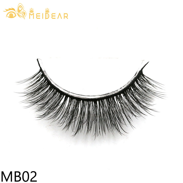 Factory supply soft and lightweight  3d silk lashes with custom packaging box