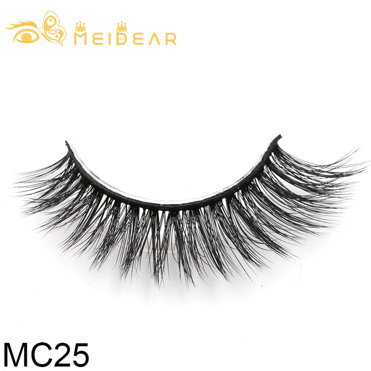 Factory wholesale private label 3d silk lashes with custom