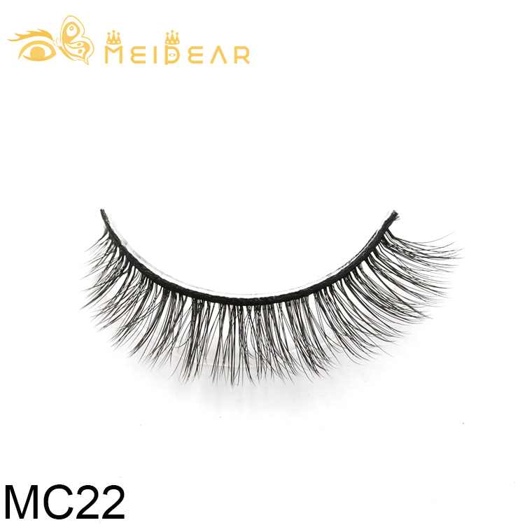 Factory wholesale private label 3d strip eyelashes with custom boxes in China