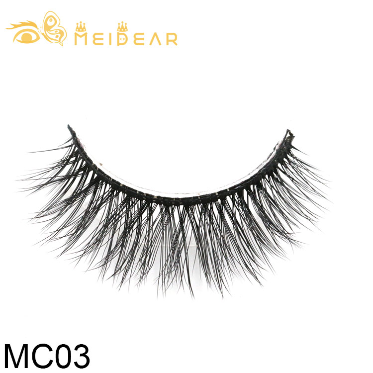 False eyelashes vendor provide high quality 3d silk lashes with private label packages