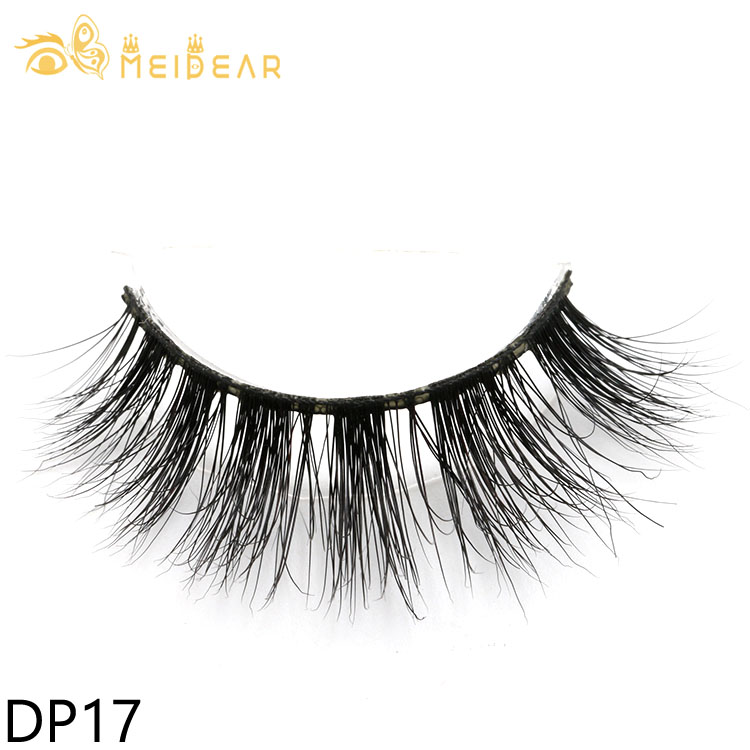 Glamorous 3D mink strip eyelash with custom packages to UK