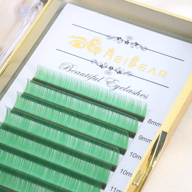 Green eyelash extension