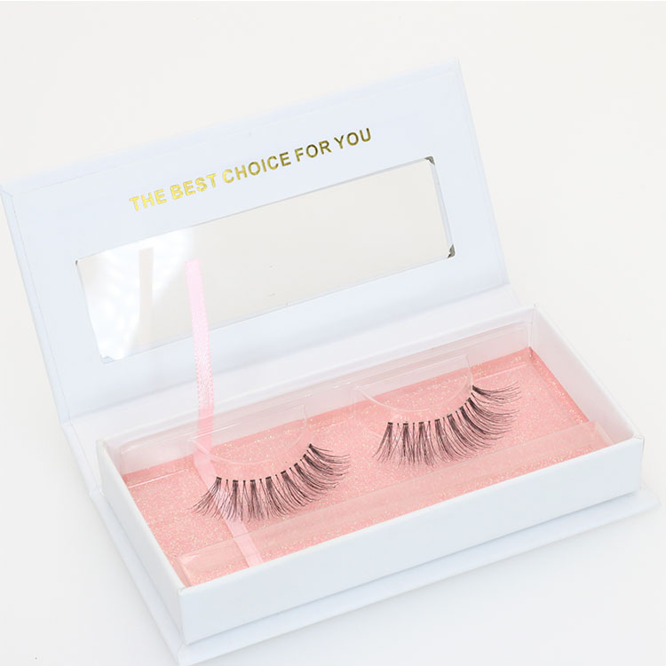 Highest quality real human hair strip eyelashes with private label packages