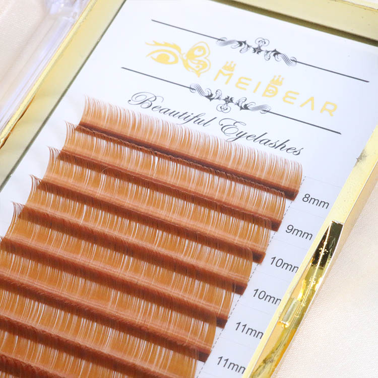 Light brown eyelash extension