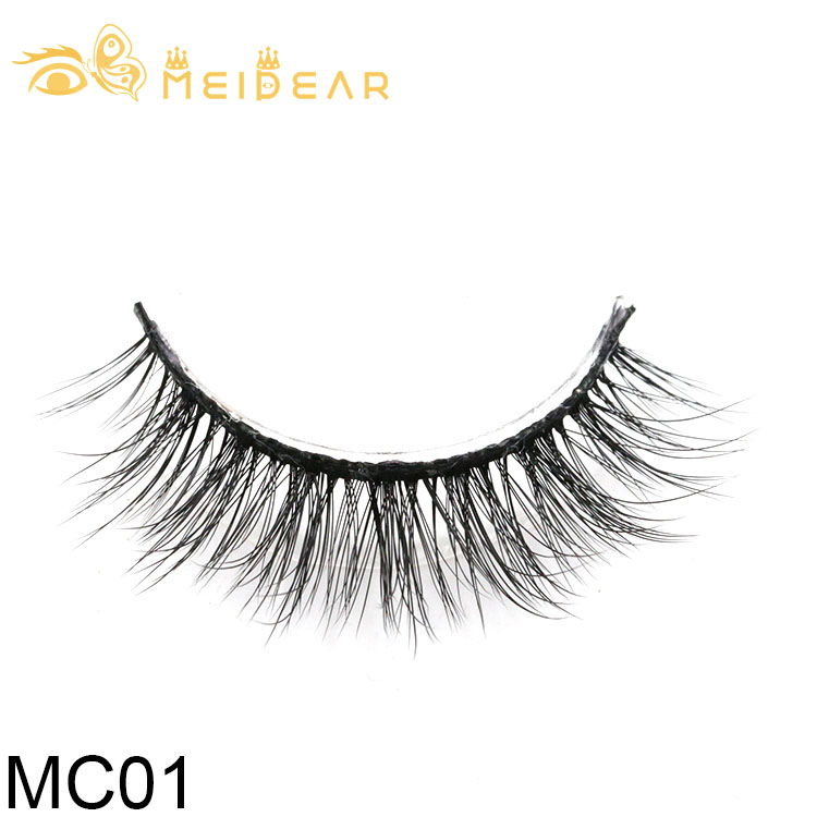 Manufacturer supply cruelty free 3D silk eyelashes with custom eyelash packaging
