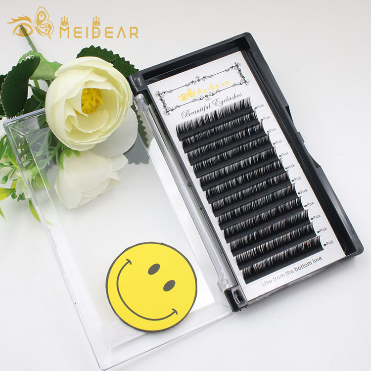 Mink individual eyelash extension with custom eyelash packaging for your own brand wholesale to UK