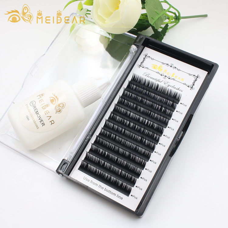 New product ideas 2018 natural mink individual eyelash extension with custom eyelash packaging box