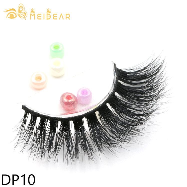 OEM ODM service for private label handmade cruelty free 3d mink strip false eyelash