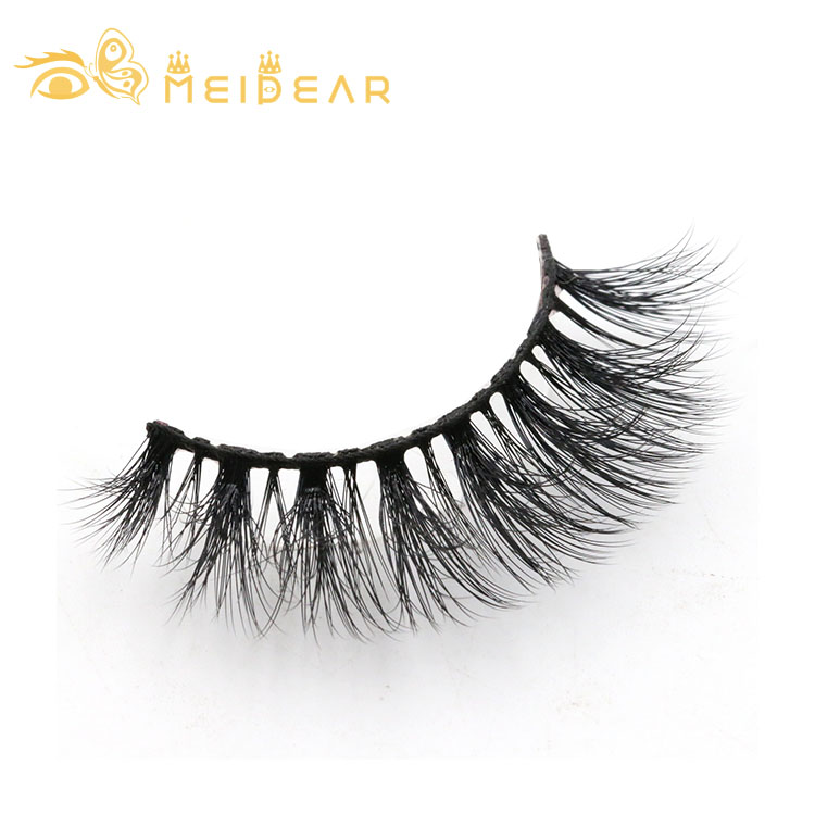 Private label 3d faux mink lashes with own brand packages to America