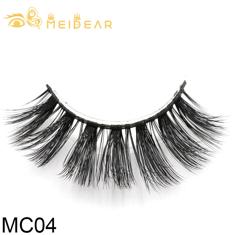 Private label eyelash packaging for handmade 3d silk false lashes