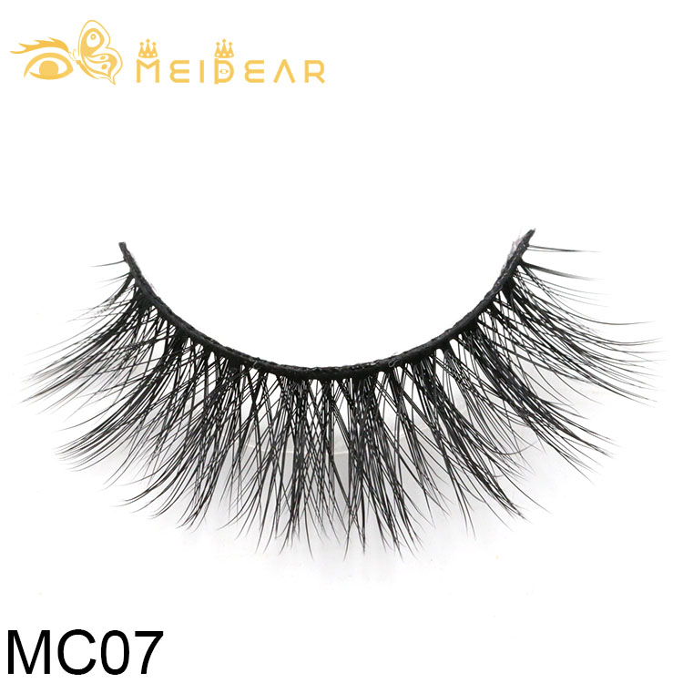 Private label eyelash packaging for handmade strip 3d silk lashes to UK