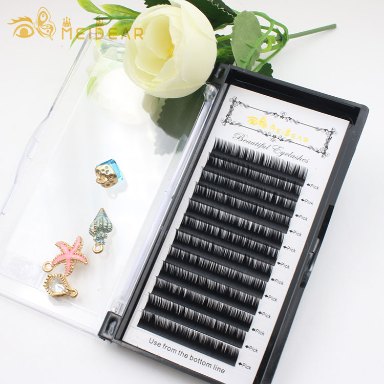 Private label individual eyelash extension mink lashes with custom eyelash packaging box to UK